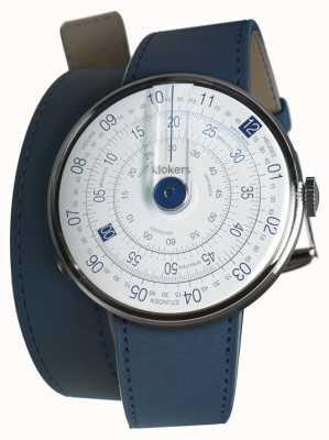 Klokers Klok 01 blue watch head azul índigo 420mm dupla alça KLOK-01-D4.1+KLINK-02-420C3