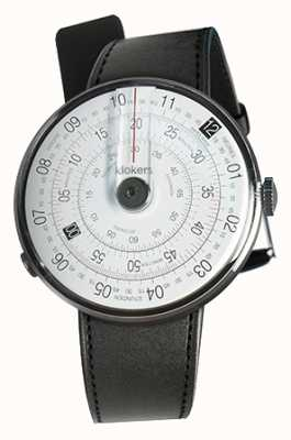 Klokers Klok 01 black watch head cinta de cetim preto único KLOK-01-D2+KLINK-01-MC1