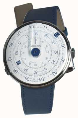 Klokers Klok 01 blue watch head azul índigo cinta única KLOK-01-D4.1+KLINK-01-MC3