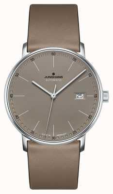Junghans Forme um relógio automático com pulseira de couro marrom 027/4832.00