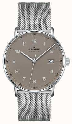 Junghans Forme uma pulseira de malha milanesa automática 027/4836.44