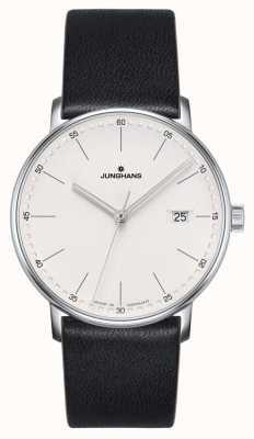Junghans Relógio de couro preto de quartzo 041/4884.00