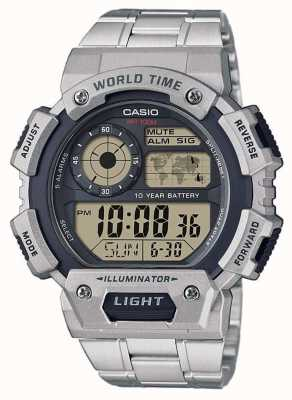 Casio Cronógrafo de alarme de hora mundial AE-1400WHD-1AVEF