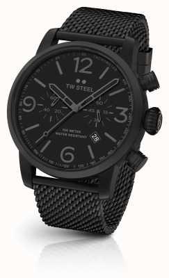 TW Steel Maverick calibre cronógrafo pulseira de malha preta mostrador preto MB33