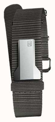 Klokers Klink 03 preto cinta única têxtil apenas 20mm de largura 230mm KLINK-03-MC3