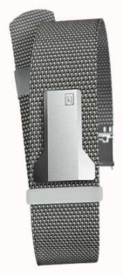 Klokers Klink 05 cinta de aço cinza milano apenas 20 mm de largura 230 mm de comprimento KLINK-05-MC1