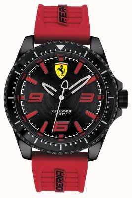Scuderia Ferrari Xx kers black dial pulseira de borracha vermelha 0830498