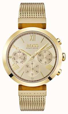 Hugo Boss Ladies multifucntion classic sport dia de ouro e exibição de data 1502425