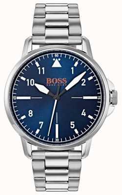 Hugo Boss Orange Pulseira de aço inoxidável mostrador azul 1550063