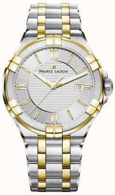 Maurice Lacroix Mens aikon pulseira de dois tons banhado a ouro AI1008-PVY13-132-1