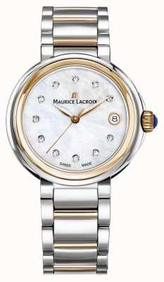 Maurice Lacroix Mulheres fiaba mãe de pérola discagem pulseira de dois tons FA1007-PVP13-170-1
