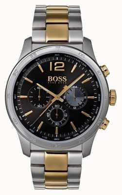 Hugo Boss Mens cronógrafo profissional assistir pulseira de dois tons 1513529