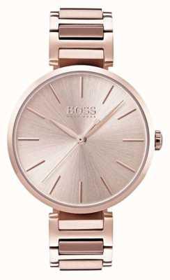 Boss Relógio de alusão das mulheres subiu tom de ouro 1502418