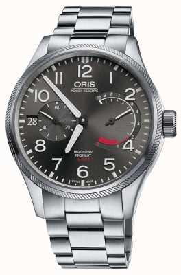 Oris Grande coroa de calibre propilador 111 pulseira de aço inoxidável 01 111 7711 4163-SET 8 22 19