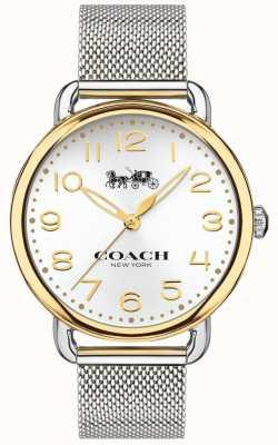 Coach Caso do tom do ouro da pulseira de malha de aço inoxidável das mulheres delancey 14502802