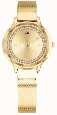 Tommy Hilfiger Olivia ouro das mulheres relógio tom 1781910