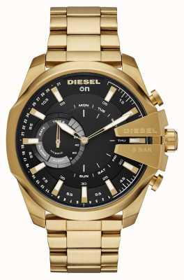 Diesel Mens megachief híbrido smartwatch pulseira de tom de ouro DZT1013
