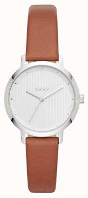 DKNY Womens the modernist pulseira de couro marrom relógio NY2676