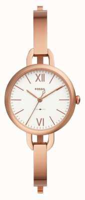 Fossil Womens annette rosa ouro pulseira relógio ES4391
