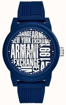 Armani Exchange Cinta de silicone para homem AX1444