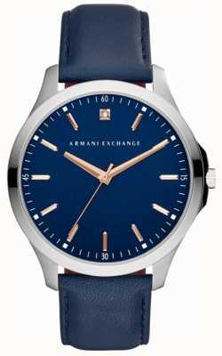 Armani Exchange Mens pulseira de couro hampton AX2406
