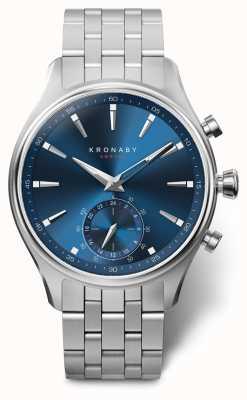 Kronaby 41mm sekel azul discagem pulseira de aço inoxidável a1000-3119 S3119/1