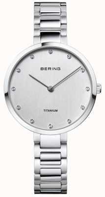 Bering Caixa de titânio e pulseira de cristal 11334-770