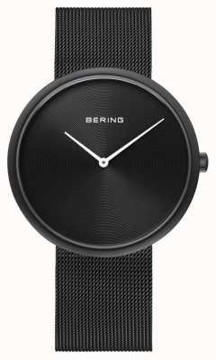 Bering Alça de malha preta fosca preta 14339-222