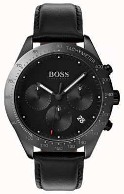 Hugo Boss Talent cronógrafo mostrador preto data de exibição de couro preto 1513590