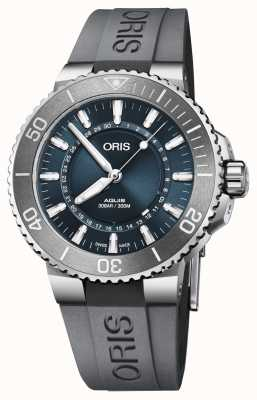 Oris Fonte de vida homens aquis limited edition blue dial rubber 01 733 7730 4125-SET RS