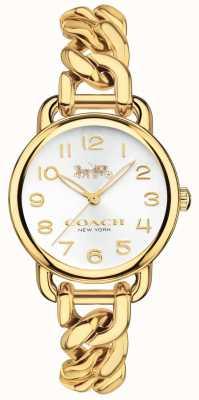 Coach Relógio banhado a ouro feminino delancey 14502801