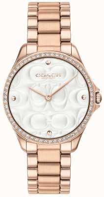 Coach Womens modern sport watch rosa banhado a ouro 14503072