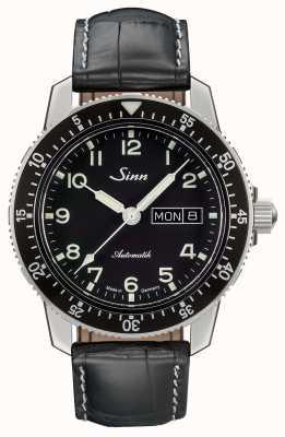 Sinn 104 st sa um relógio piloto clássico pulseira de couro preto 104.011 LEATHER