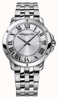 Raymond Weil Mens tango pulseira de aço inoxidável mostrador prateado 5591-ST-00659