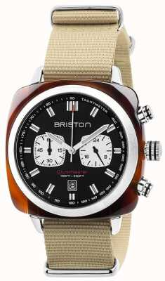 Briston Relógio de ícones do esporte clubmaster Mens 17142.SA.TS.1.NK