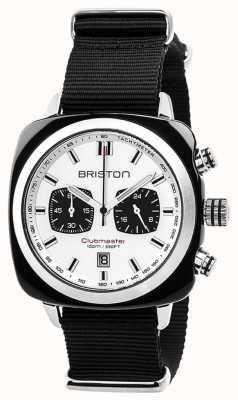 Briston Clubmaster sport timeless pulseira preta mostrador branco 17142.SA.BS.2.NB