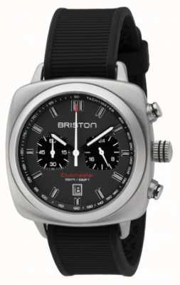 Briston Clubmaster sport cinza preto de borracha matt dial 16142.S.SP.17.RB