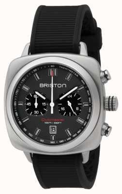 Briston Clubmaster sport cinza preto de borracha matt dial 16142.S.SP.17.RB