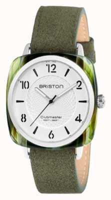 Briston Correia de discagem verde chique Clubmaster branco 18536.SA.GE.2G.LNGA