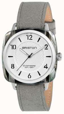 Briston Senhoras Clubmaster chique cinza pulseira mostrador branco 18536.SA.GRE.2G.LNG