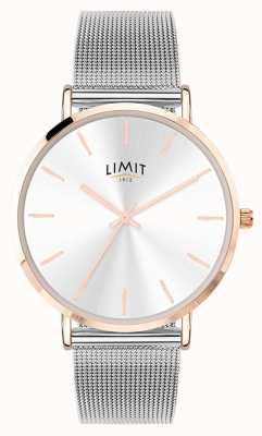Limit Relógio de malha de aço prateado para mulher 6309.37