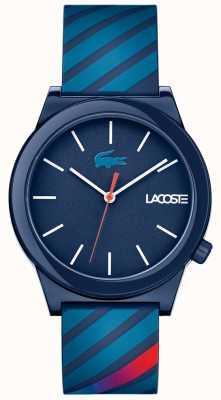 Lacoste Pulseira de borracha azul de relógio de movimento unissex 2010934