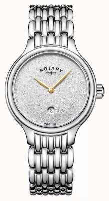 Rotary Brilho das mulheres sparkle dial aço inoxidável LB00405/33
