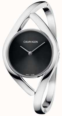 Calvin Klein Ladies 'bangle watch party mostrador preto K8U2M111