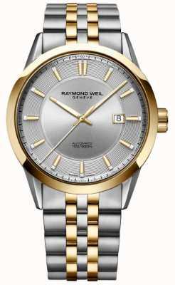 Raymond Weil Mens freelancer automático tom de duas pulseira de discagem prata 2731-STP-65001