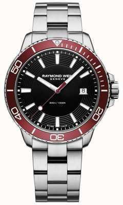 Raymond Weil Mens tango 300 pulseira de aço inoxidável mergulhador 8260-ST4-20001