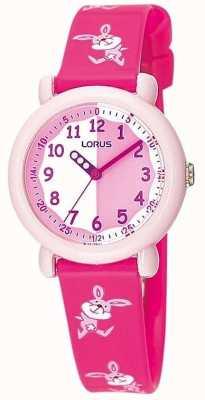 Lorus Relógio de coelho rosa para crianças RG243BX9