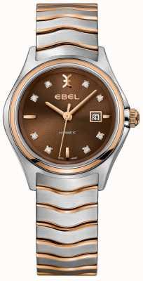 EBEL Mostrador de avelã de exibição de data de diamante de onda automática de mulheres 1216265