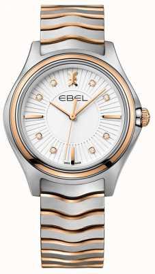EBEL Onda de diamante feminina sunray discagem dois tons de ouro rosa 1216306