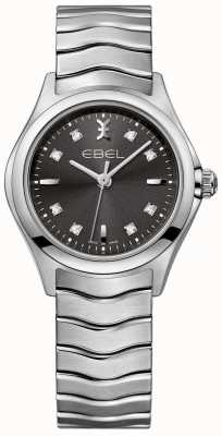 EBEL Bracelete em aço inoxidável com diamantes antracite para mulher 1216316